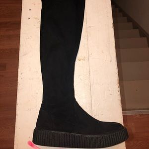 Thigh high platform boot